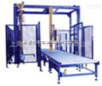 上海全自动转弯台面包装生产线 顶部覆膜缠绕膜包装机生产线