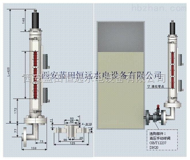 插装式轴承回油箱UXJX磁翻板液位计厂家