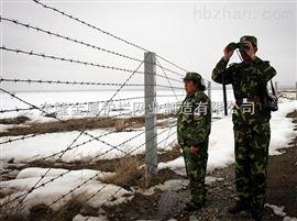 中朝边境铁丝网
