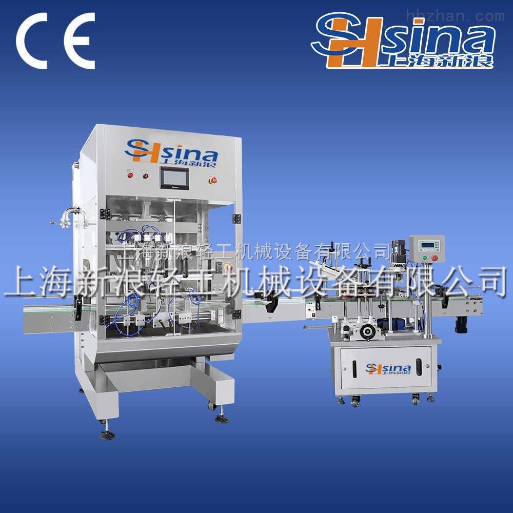 上海新浪氣動恒溫膏體灌裝機設備