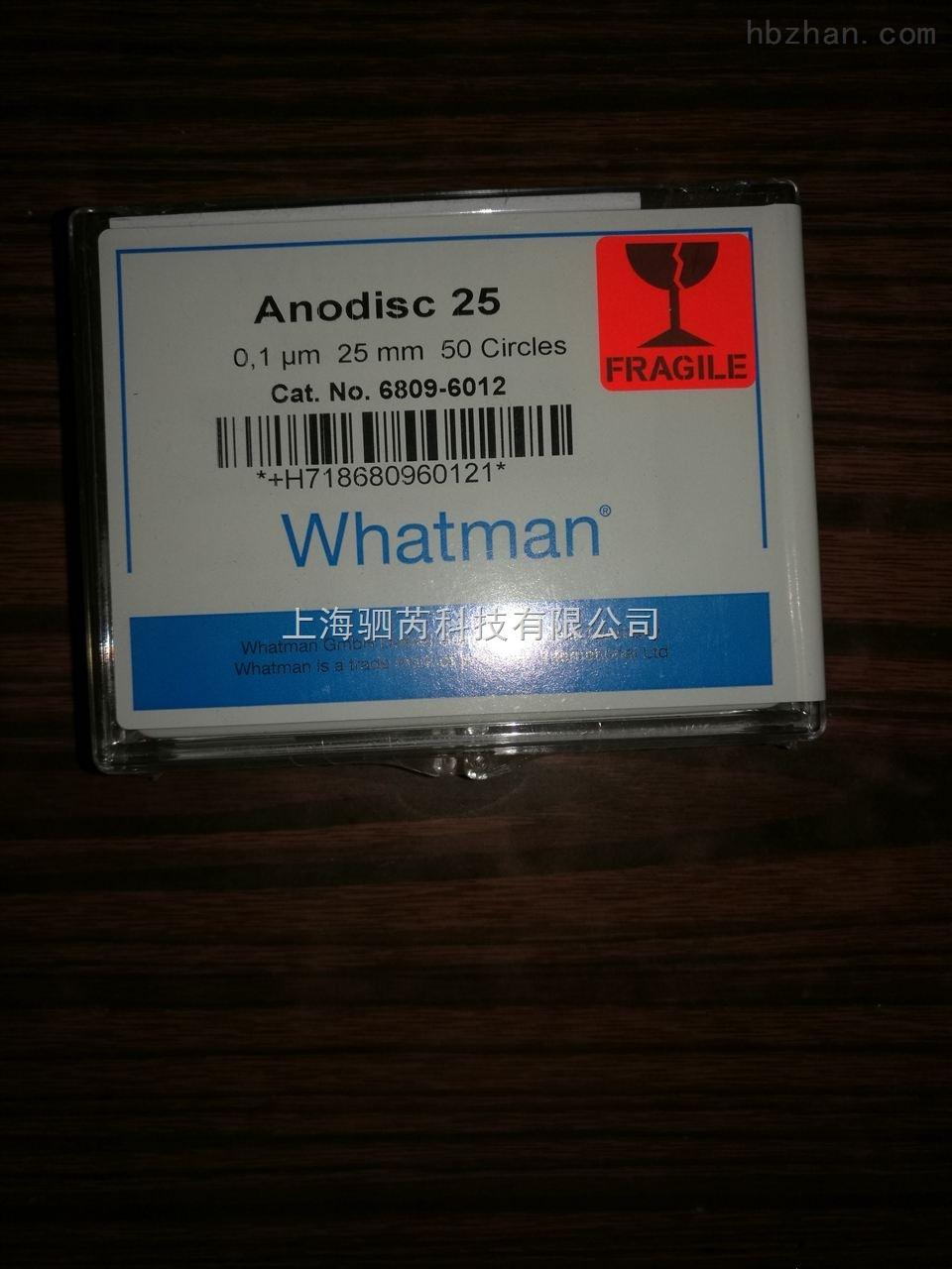 GE WHATMAN 无机膜 AAO膜 氧化铝膜Anodisc 6809-6012