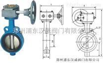 D371蝸輪軟密封對夾式蝶閥