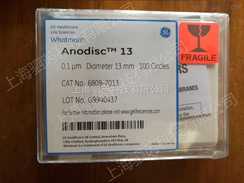 Whatman 沃特曼 Anopore无机膜 Anodisc 13 0.02um 13mm