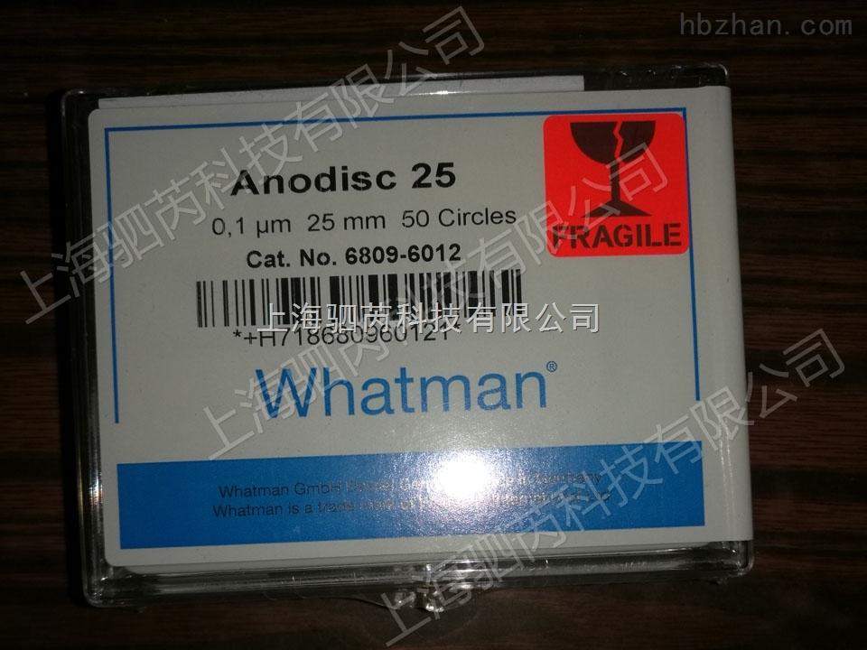 Whatman无机膜AAO模板 25mm*0.02um Anodisc25