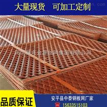 可定做高速公路防护网 菱形钢板网护栏
