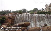 苏氏山水(山月园),人工假山施工,梅州客天下酒店景观