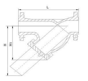 y型大口径过滤器结构图