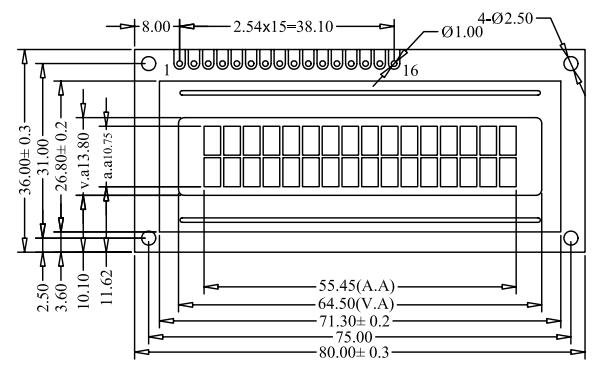 字符lcd1602液晶模块lcm1602液晶屏