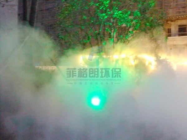 张掖人工河人造雾效果好/喷雾景观水景造雾技术专家/雾化水景造价