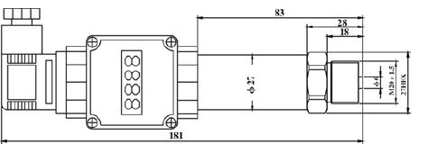 代加工oem数显压力变送贴牌生产-1323d型  供电电源:15~30vdc(本安型