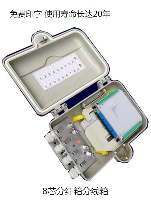 齐全-8芯光纤分纤箱广西